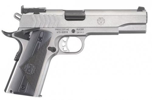 Ruger 6759 SR1911 Target 9mm 5 9+1 G10 Grip Stainless Steel