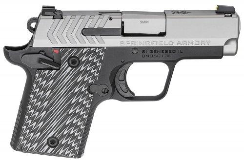 Springfield Armory PG9119S 911 9mm Single 2.7 6+1/7+1 Gray G10