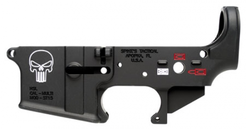 Spikes STLS015-CFA Lower Forged Punisher Multi-Caliber AR Platf