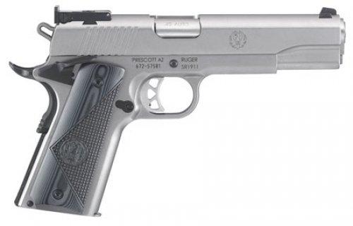 Ruger 6736 SR1911 Single .45 ACP 5 8+1 Stainless Steel Grip/Fra