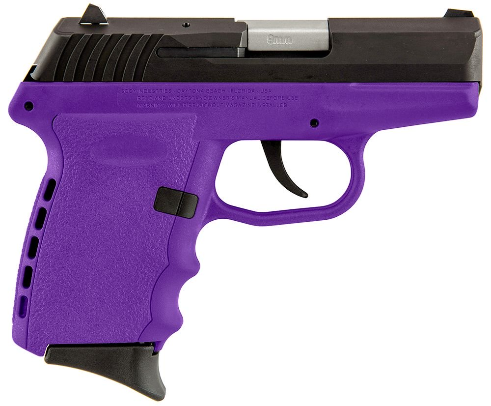 """SCCY Industries CPX2CBPU CPX-2 Double Action 9mm 3.1"""" 10+1 Purp"""