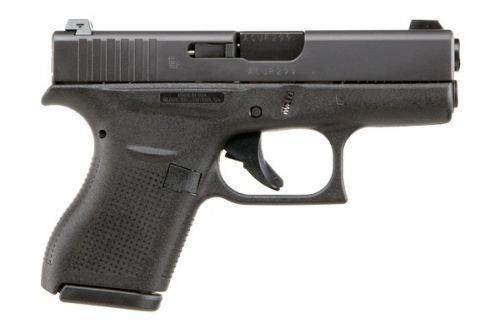 Glock G42 380 Glock Night Sights 6RD Black Poly Grip/Black