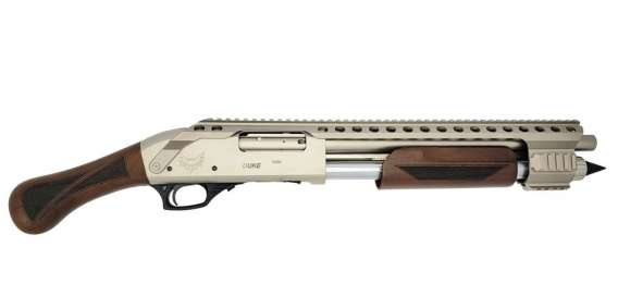 Emperor Arms Duke 111 Pump Action Silver w/ Wood Grip 4+1