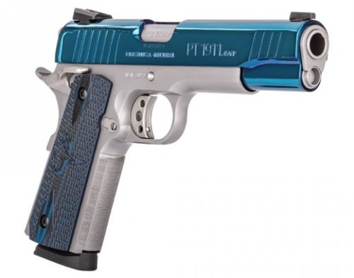 TAURUS PT-1911 .45 ACP 8rd High Polish Blue PVD Custom VZ Grip