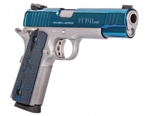 TAURUS PT-1911 .45 ACP 8rd High Polish Blue PVD Custom VZ Grip
