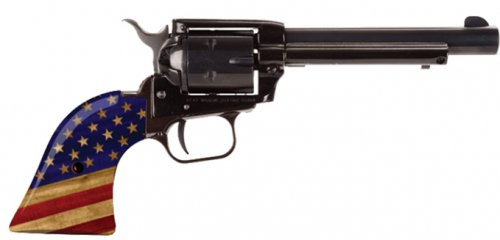 "Heritage Manufacturing Rough Rider .22 LR 4.75"" 6RDS w/Flag Gri"