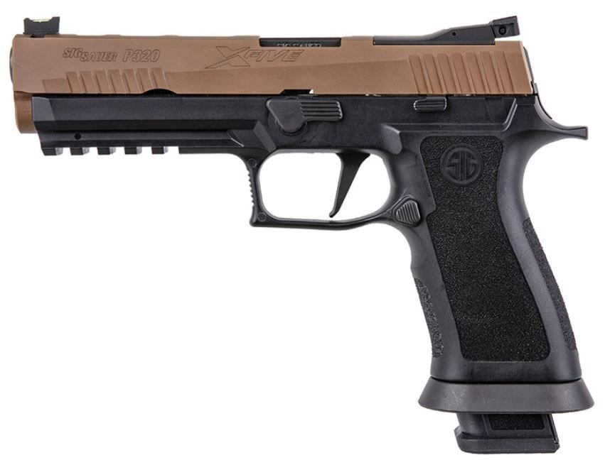 "Sig Sauer P320 X-Five 9mm 5"" Coyote Tan 4-21rd Mags"