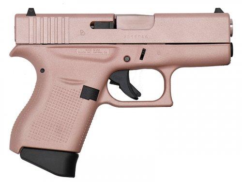 """Glock - G43, 9mm, 3.39"""" Barrel, Fixed Sights, Rose Gold Cerakot"""
