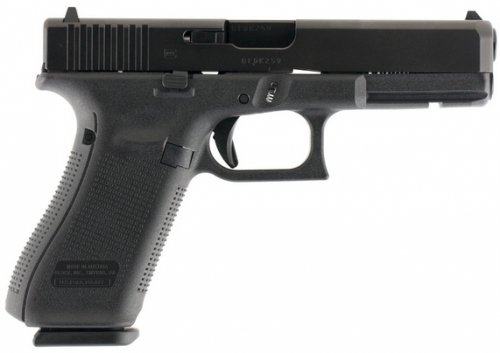 Glock G17 Gen 5 Double Action 9mm 4.48 17+1 Fixed Black Interch