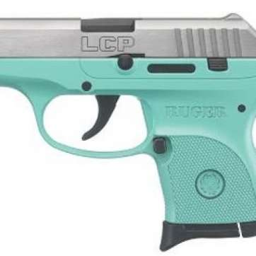Ruger LCP .380 ACP Stainless Steel Turquoise Frame 6RD