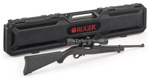 Ruger 10/22 Carbine .22 LR Black Syn w/Scope & Case