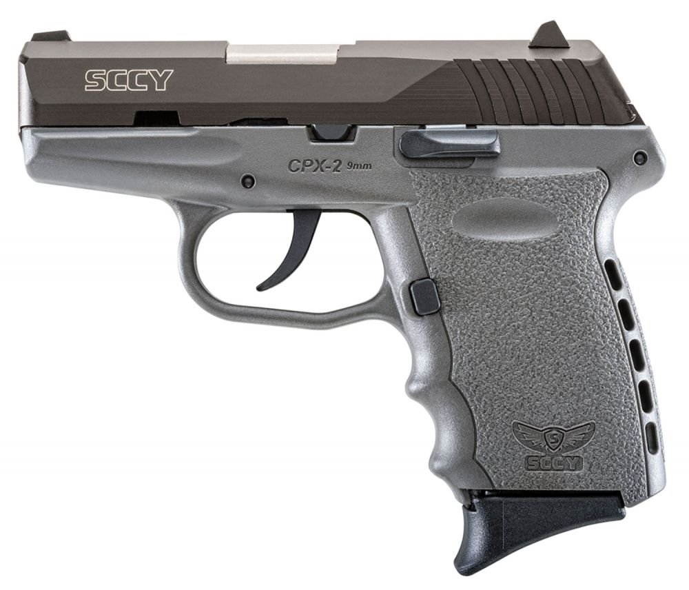 """SCCY Industries CPX2CBSG CPX-2 Double Action 9mm 3.1"""" 10+1 Gray"""