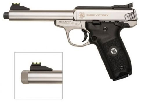 Smith & Wesson 10201 VICTORY .22 LR 5.5 10R Threaded Barrel St