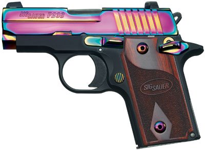 Sig Sauer .380 ACP Model 238 Titanium Rainbow Slide Night Sigh