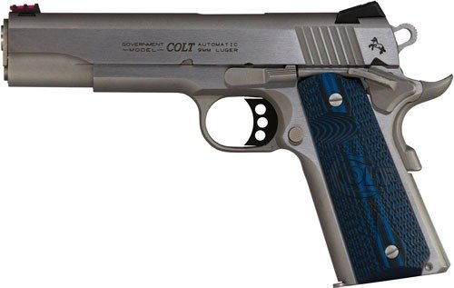 """Colt Government 70 Series Competition 9mm 5"""" Stainless 9+1"""