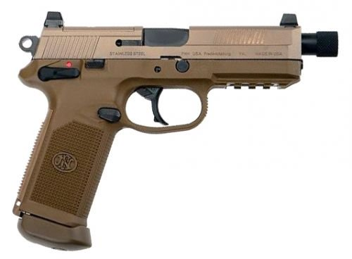 "FN HERSTAL FNX45 Tactical .45 ACP 5.3"" Night Sights Flat Dark E"